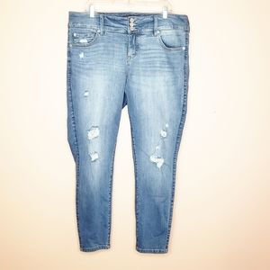 Torrid High Rise Distressed Skinny Jeans